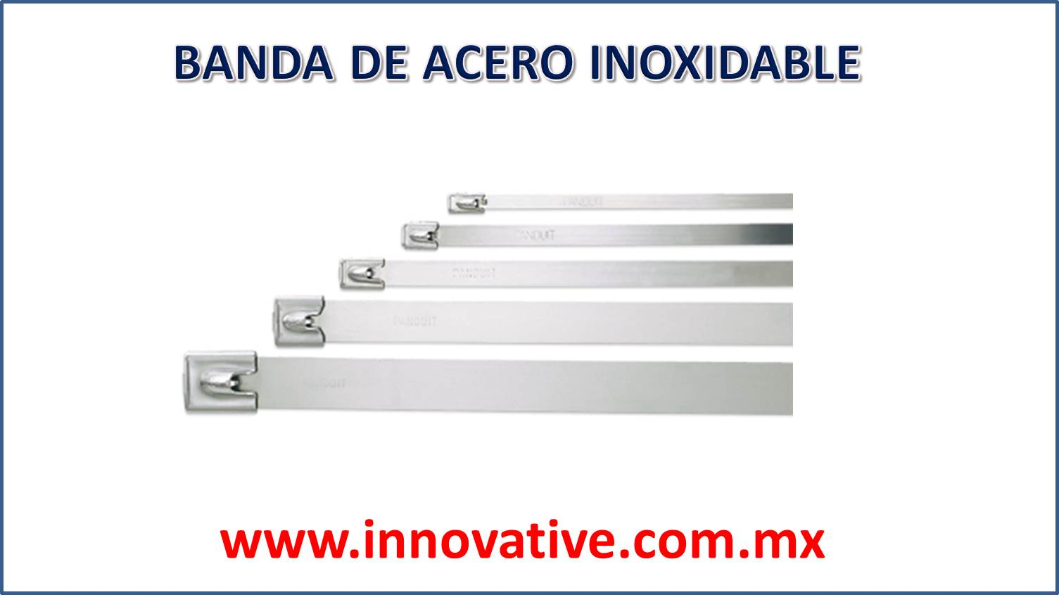 Banda de acero inoxidable for Pilas de acero inoxidable