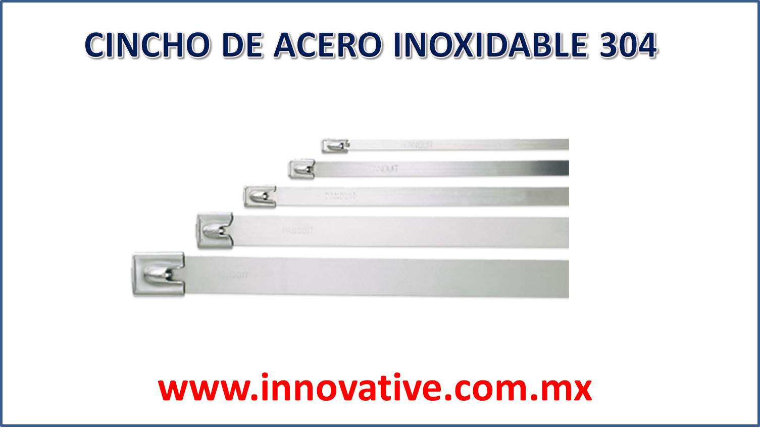 Cincho de acero inoxidable 304 for Toalleros de acero inoxidable