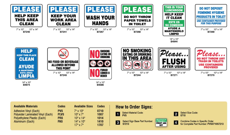 Letreros De Limpieza E Higiene