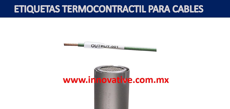ETIQUETAS TERMOCONTRACTIL PARA CABLES