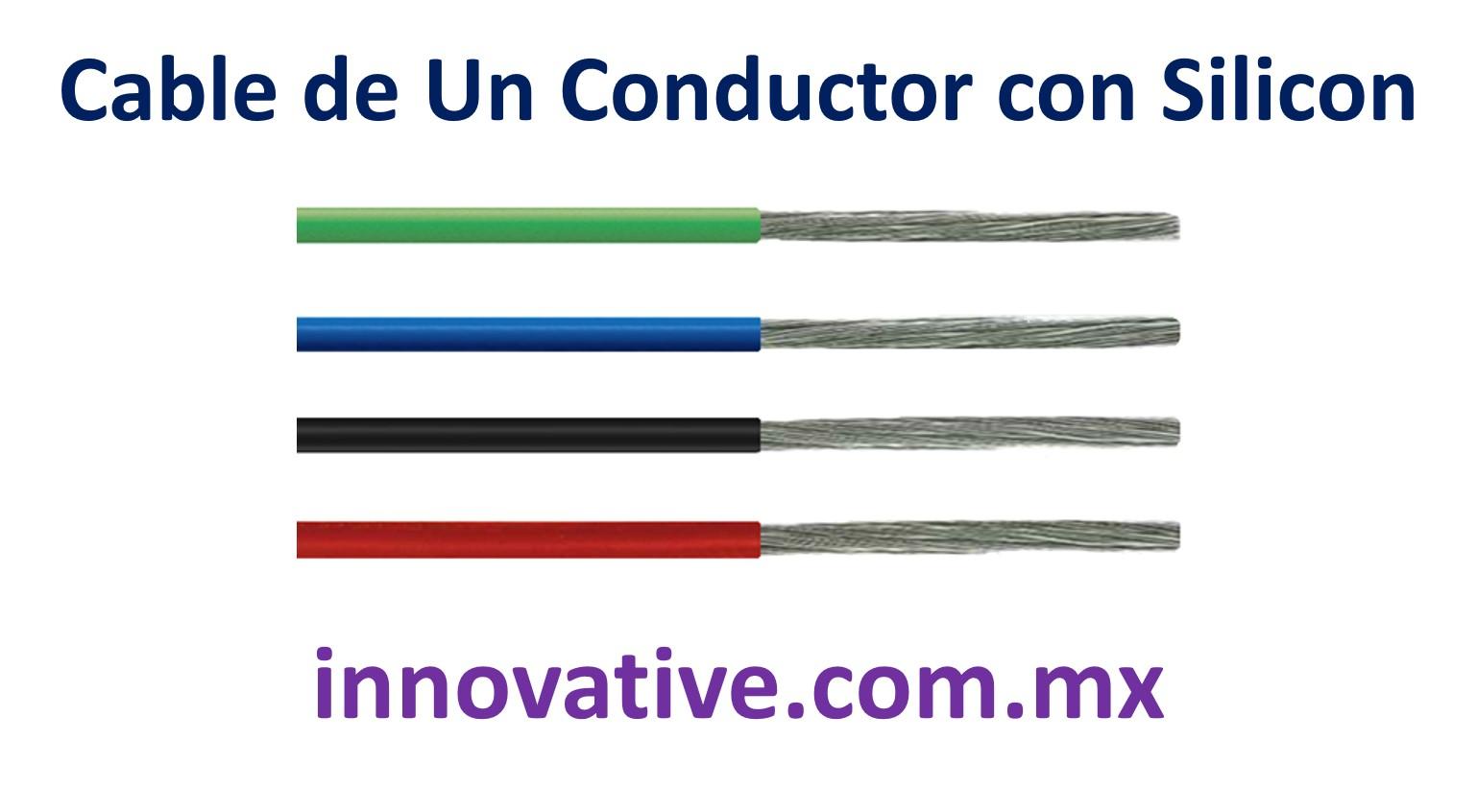 Cable De Un Conductor Con Silicon